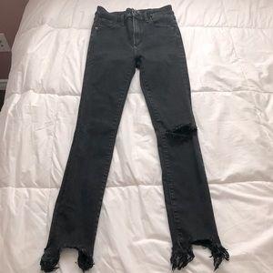 🤍 Abercrombie High Waist Ankle Skinny Jeans Black 🤍